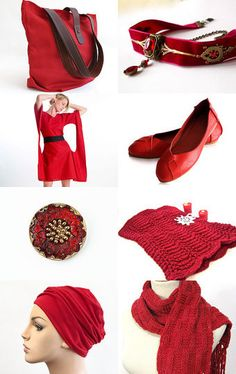 Lady In Red by Carol Schmauder on Etsy--Pinned with TreasuryPin.com