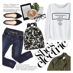 """she's electric"" by punnky ❤ liked on Polyvore featuring мода, Nili Lotan, Linea и Selima Optique"