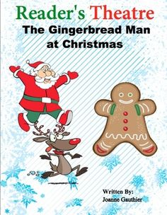 A 4 page, 7 part readers' theater script of the Gingerbread Man with a Santa theme.  Mrs. Claus makes a gingerbread man but he runs away.  He is chased by Santa, a reindeer, and an elf.  Finally a polar bear eats him up.  The script is written with primary students in mind and has parts suitable for Emergent Readers and Transitional readers as follows:  o Emergent (roughly DRA 4-8) Mrs.