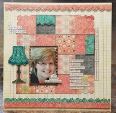 So cute - love the scallopped corners. From Carrie Ferrier via the CREATE blog (Scrapbook Trends Mag)