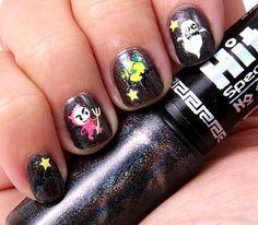 DIY halloween nails: DIY Halloween nail art : Halloween Nails- Weight Update