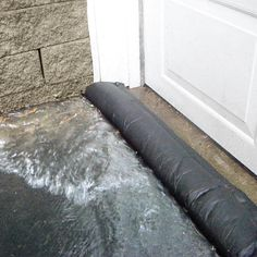 Quick Dry Flood Barrier - $34.99 2/$60 The Flood Barrier is ready to use - no sand, labor or mess - just add water. Super absorbent powder inside swells, gels & creates a barrier. Stack multiple barriers to quickly build a retaining wall. Lay across driveways, in front of garage doors or in the path of problem water. Compact & lightweight for storing & carrying. Barrier naturally decomposes over time. Not for salt water flooding. 5 feet long. Re-usable. Made in USA. Hurricane Preparedness, Disaster Preparedness, In Case Of Emergency, Emergency Backpack, Flood Prevention, Flood Barrier, Building A Retaining Wall, Water Damage Repair, Hurricane Shutters