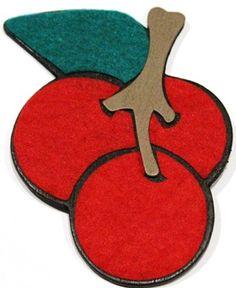 Cherries Small Felt-Ribbon Bow Holder  ($7.00)