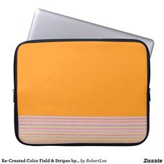 Re-Created Color Field & Stripes by Robert S. Lee Computer Sleeve #Robert #Lee #art #Neoprene #Laptop #Sleeve #graphic #design #colors #sleeve #electronics #tech #laptop #mac #apple #girls #boys #men #women #ladies #style #for #her #him #gift #want #need #love #customizable