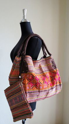 Bohemian Hmong Ethnic Handbags vintage by shopthailand on Etsy