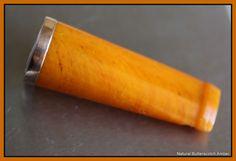 Vintage 100% Natural Butterscotch Amber Gold?Gold Plate Cigar/Cigarette Holder