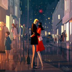 ⌨ANOTHER NIGHT OUT by Pascal Campion⌨ #pascalcampion #paintings #artwork