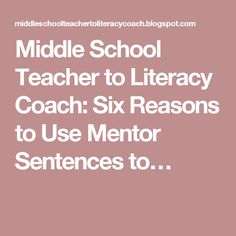 56 Best Education Images Teaching Middle School Reading