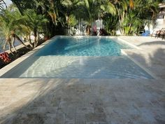 Beach entry pool ideas designs for small zero entry pool found on beach entry swimming pool . Small Swimming Pools, Small Pools, Swimming Pools Backyard, Swimming Pool Designs, Pool Landscaping, Lap Pools, Indoor Pools, Backyard Pool Designs, Small Backyard Pools