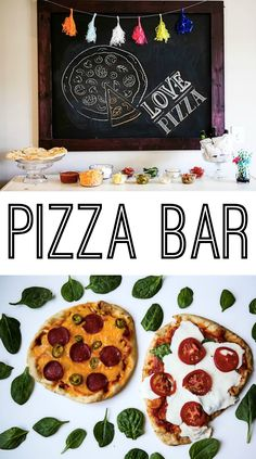 Pizza Bar for the Super Bowl with Stoneware