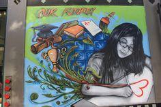 """our future"" Graffiti Murals, Art Portfolio, Local Artists, Street Art, Bay Area, Anime, Future, Future Tense, Cartoon Movies"