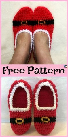 Love Amigurumi - Crochet Christmas Slipper Socks – Free Pattern You are in the right place about mochila anello He - Crochet Afghans, Crochet Cable, Afghan Crochet Patterns, Crochet Slippers, Crochet Stitches, Free Crochet, Knitting Patterns, Elf Slippers, Crochet Scarfs