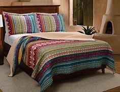 Greenland Home 3-Piece Southwest Quilt Set, Full/Queen -- Learn more by visiting the image link.
