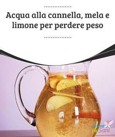 Acqua alla cannella, mela e limone per perdere peso Water at apple and lemon to lose made with cinnamon, apple and it is prepared in less than twenty minutes and offers a full day of Try it! Detox Diet Drinks, Detox Juice Recipes, Natural Detox Drinks, Fat Burning Detox Drinks, Smoothie Detox, Juice Cleanse, Detox Juices, Cleanse Detox, Cleanse Recipes