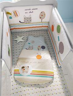 Tour de lit  bébé thème Zaminis MULTICOLORE - vertbaudet enfant