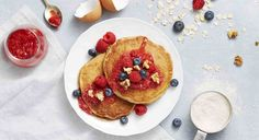 Whole-Grain Berry Pancakes - GoodHousekeeping.com These are fabulous!