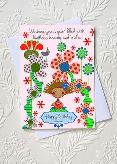 Yoga Birthday Greeting Card  idocaredesigns.com  Quote by: Elana Epstein  Design by: Jazmin Sasky