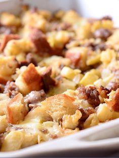 Sausage, Apple and Brie Stuffing Recipe with Jimmy John's Day Old Bread