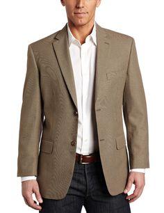 Amazon.com: Haggar Men's 2 Button Textured Weave Side Vent Sport Coat: Clothing
