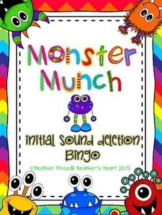 Your students will love helping the Monsters munch and delete the initial sounds in words. Included in the packet are a Bingo game, an Interactive Monster Munch Song, and 60 phoneme deletion cards to be used as transitions or time fillers.  Perfect for RtI or interventions for TPRI.