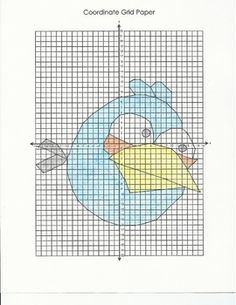 Students can practice their 4 quadrant coordinate graphing skills by creating this fun picture of the Blue Bird from the popular game Angry Birds. ...