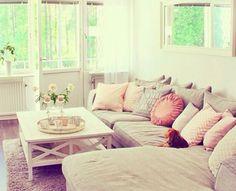 #livingroom #wohnzimmer #pink #sofa #ecksofa