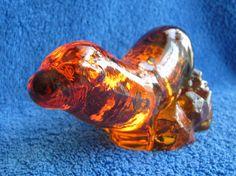 Sweden Kosta Orrefors Paul Hoff Art Glass figurine animals utter WWF orange #Orrefors