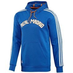 Adidas Real Madrid Core Hoodie ($30) ❤ liked on Polyvore featuring men's fashion, men's clothing, men's hoodies, white, mens hooded sweatshirts, mens graphic hoodies, mens sweatshirts and hoodies, mens cotton hoodies and mens white hoodie