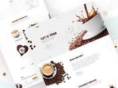 Coffee- Shop Landing Page Design by Rîfat Âhměd Landing Page Design, Coffee Design, Silver Spring, Design Projects, Coffee Shop, Design Inspiration, Mood, Shopping, Search