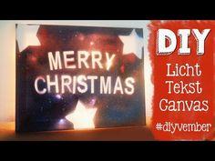 #diyvember zelf een tekstbord maken met licht erachter. Een leuk kerstkadootje voor iedereen aan te passen!