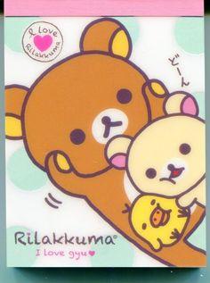 San-X Rilakkuma Relax Bear 2 Design Mini Memo Pad #24 (M0960)
