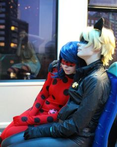 "polkadotdweeb: "" A long day's hard work (actually photographed after a long day at con-) Even heroes have to rest~ Check out the Instagram's below for more content! Ladybug: PolkaDotDweeb Chat Noir: Casplayer Photographer: Fledglingrenn """