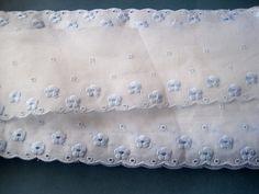 Eyelet Cotton Floral Lace White / Shabby by PrimroseLaceRibbon