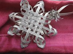 To Do:. Oh, I so want to learn how to do this...gorgeous Woven Star Tutorial ...made from book pages with glitter!