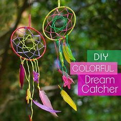 DIY Colorful Dreamcatcher - fairly easy to follow instructions for the webbing.