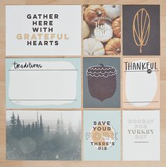 Thanksgiving Card Set at @studio_calico | LifeLovePaper designs.