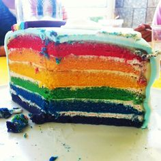 Inside the Rainbow cake