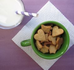 homemade teddy grahms (or whatever tiny cookie cutter you have grahams)--definitely want to try these!