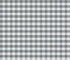 Gingham_Checks_Grey fabric by lana_gordon_rast_ on Spoonflower - custom fabric