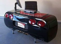 Car desk so cool. I want one or two