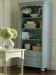 Painted bookcase.