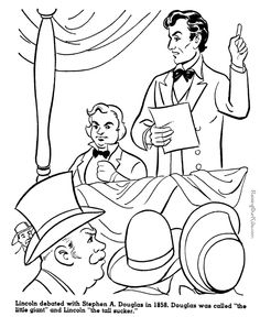 Abraham Lincoln history coloring pages for kid 053 SCHOOL