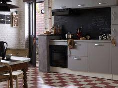 Carrelage damier rouge blanc cuisine leroymerlin
