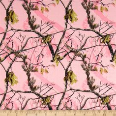 Realtree Flannel Allover Pink from @fabricdotcom  From Realtree for Fabrique Innovations, Inc., this soft, single napped (brushed on face side only) flannel fabric is perfect for quilting and apparel. Colors include pink, shades of brown and grey.