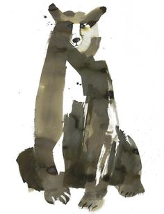 """""""The Bear"""" - Sarah Maycock {contemporary art animal watercolor painting} Art And Illustration, Art D'ours, Bear Art, Art Graphique, Art Design, Painting & Drawing, Amazing Art, Watercolor Art, Illustrators"""