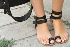 """Zara Leather - How cute Miss """"Saritha"""" Leather Sandals. Perfect for India living...Ohhh so sweet boo ;)"""