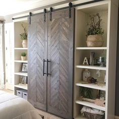 """5,945 Likes, 78 Comments - Shanty2Chic (@shanty2chic) on Instagram: """"Free plans for these sliding barn doors are on our site now ❤️☕️ #shanty2chic #barndoors"""""""