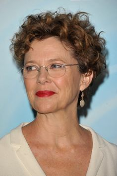 Annette Bening looks good for her age, and she just LOOKS GOOD.  Great glasses!