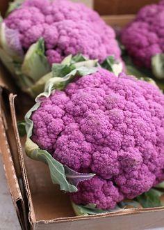 Purple cauliflower.  Delicious, and beautiful.