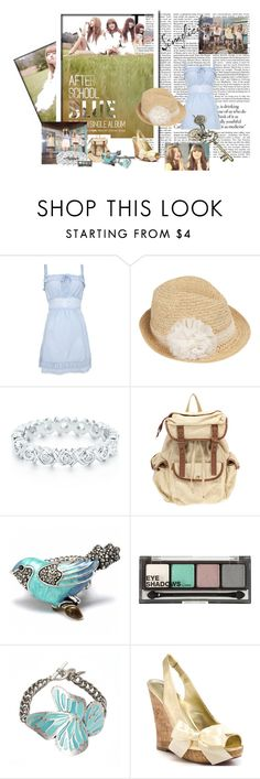 """""""After school """" Blue"""""""" by shinee-pearly ❤ liked on Polyvore featuring Odd Molly, Dorothy Perkins, Paloma Picasso, UO, Fantasy Jewelry Box, H&M, Nine West and Paris Hilton"""